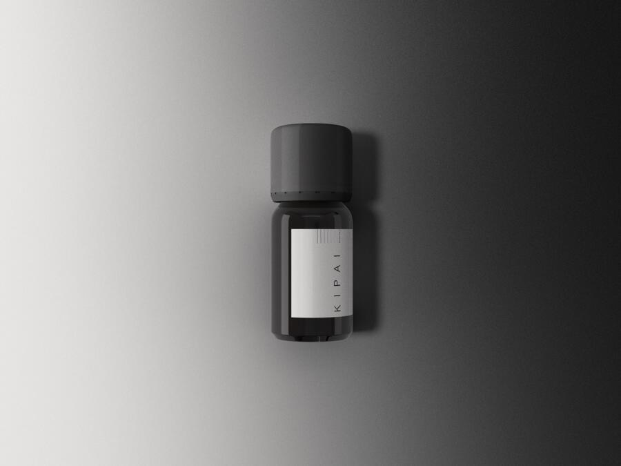 Amber Bottle Free Mockup (PSD)
