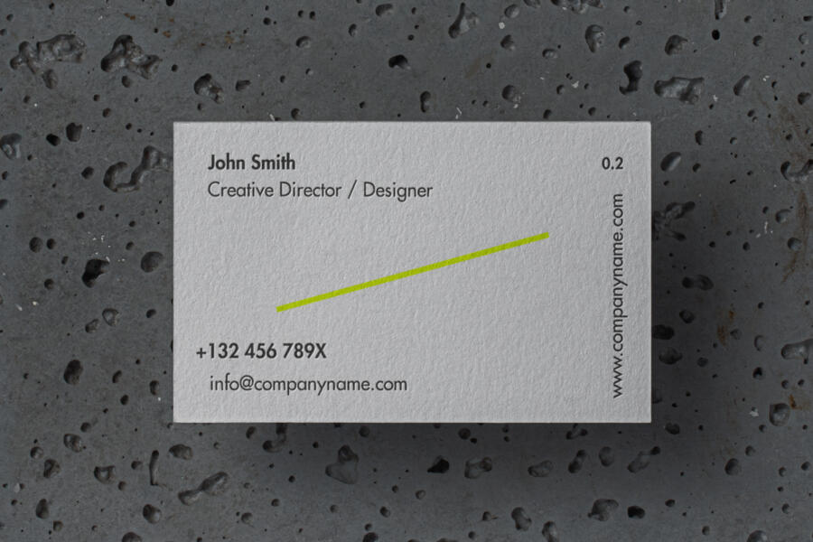 Business Card with stone decoration Mockup