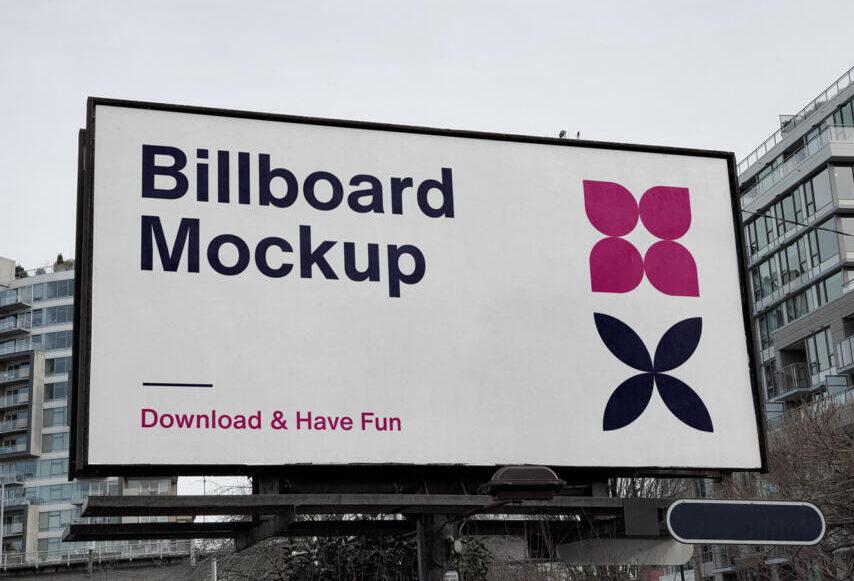 City Billboard Free Mockup (PSD)