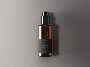Classic Perfume Bottle Free Mockup (PSD)