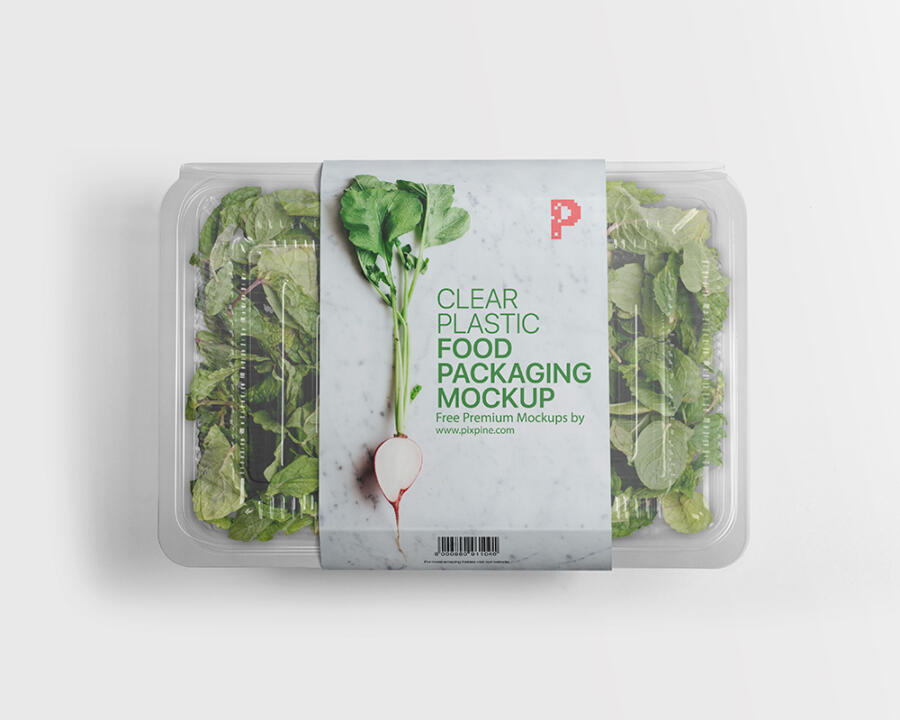 Clear Plastic Food Packaging Mockup