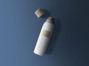 Cosmetic Spray Bottle Free Mockup (PSD)