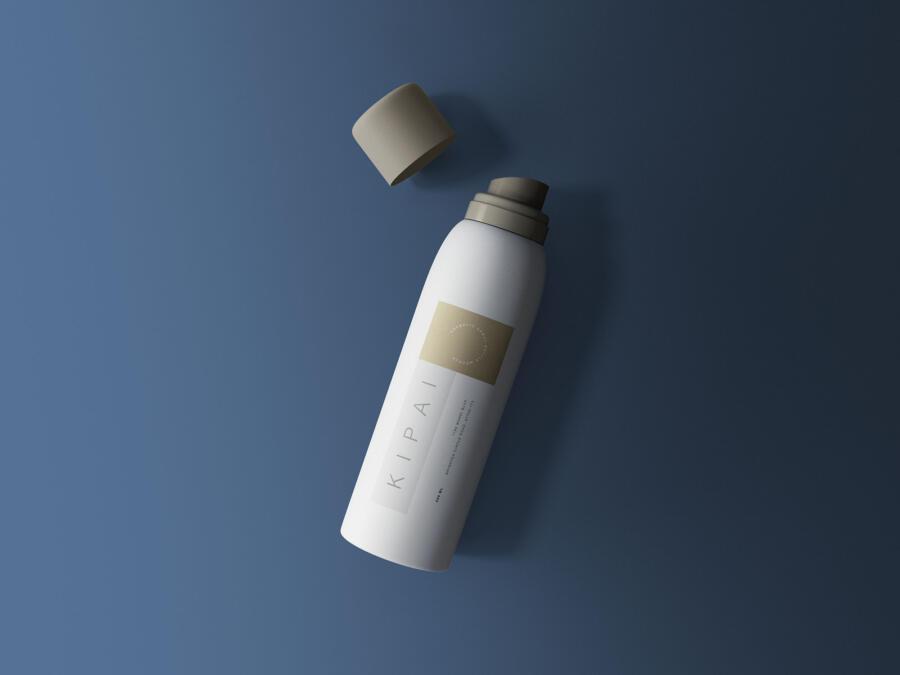 Cosmetic Spray Bottle Mockup (PSD)