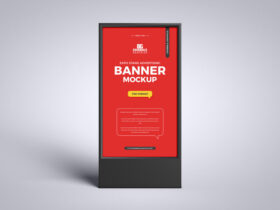 Expo Stand Advertising Banner Free Mockup