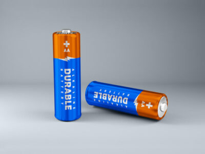 Free AA Battery Mockup (PSD)