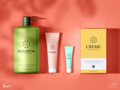 Free Branding Cosmetics Mockup (PSD)