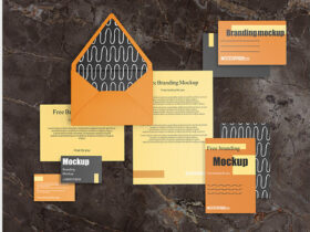 Free Business Branding Stationery Mockup (PSD)