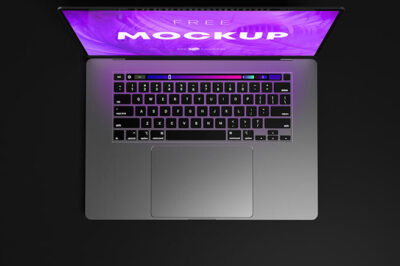 Free Macbook Pro Laptop Mockup Set