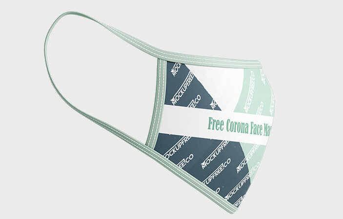 Free Medical Mask during Pandemic Mockup