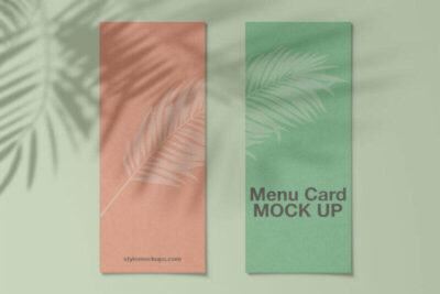 Free Menu Card Mockup (PSD)