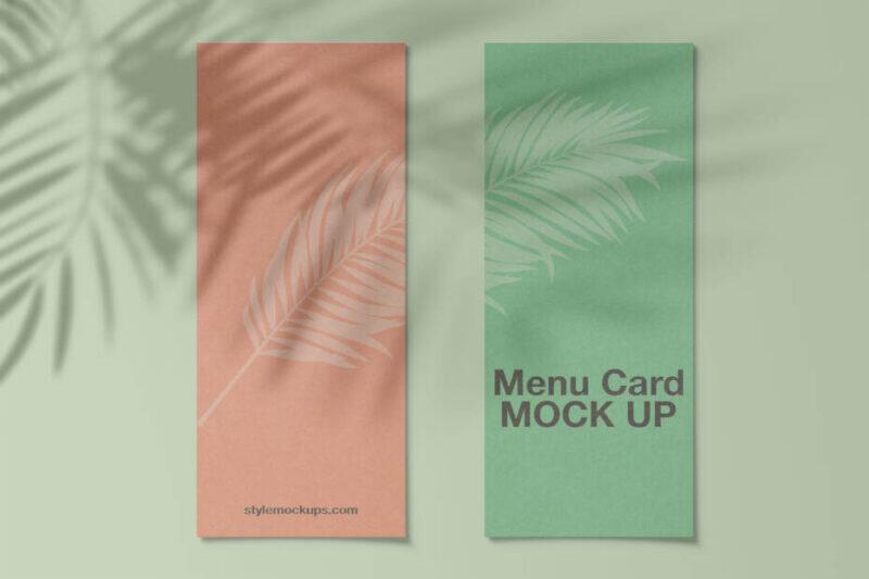 Free Menu Card Mockup (PSD)