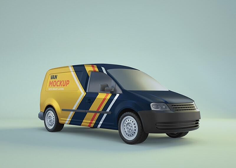 Free Minivan Mockup (PSD)
