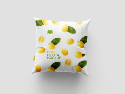 Free Square Pillow Mockup Set