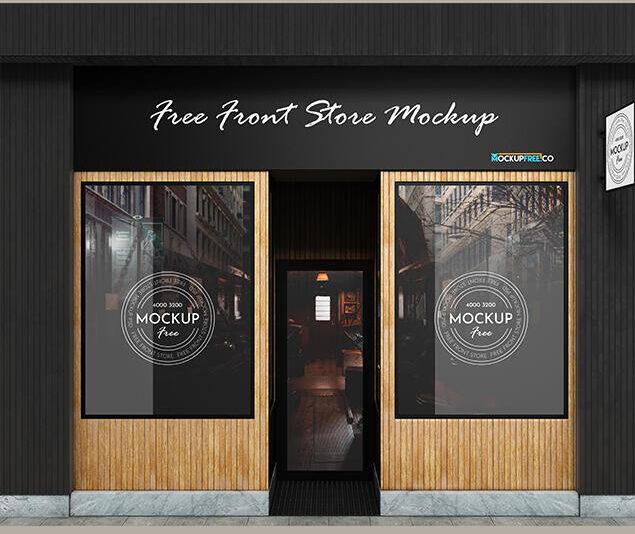 Free Storefront Logo Mockup (PSD)
