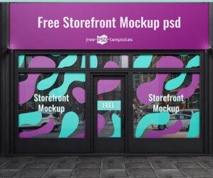Free Storefront Mockup (PSD)