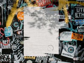 Free Torn Poster Mockup Scenes