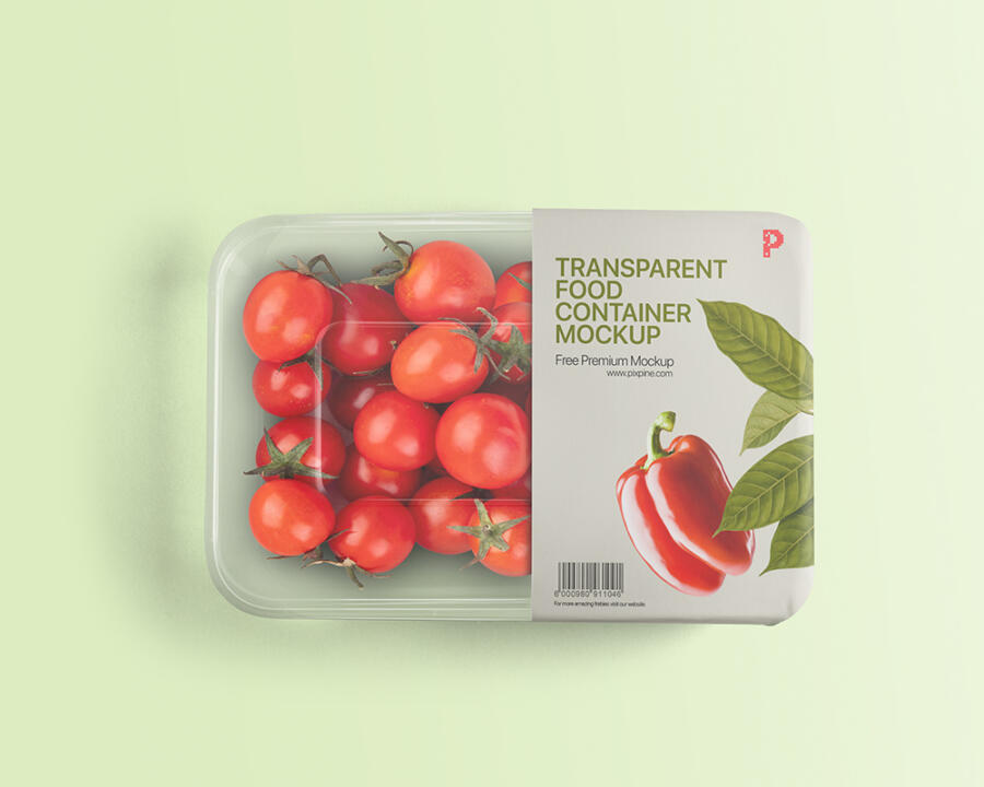 Free Transparent Food Container Mockup