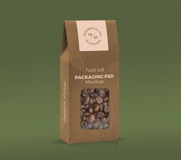 Free Window Pouch Almond Packaging Mockup