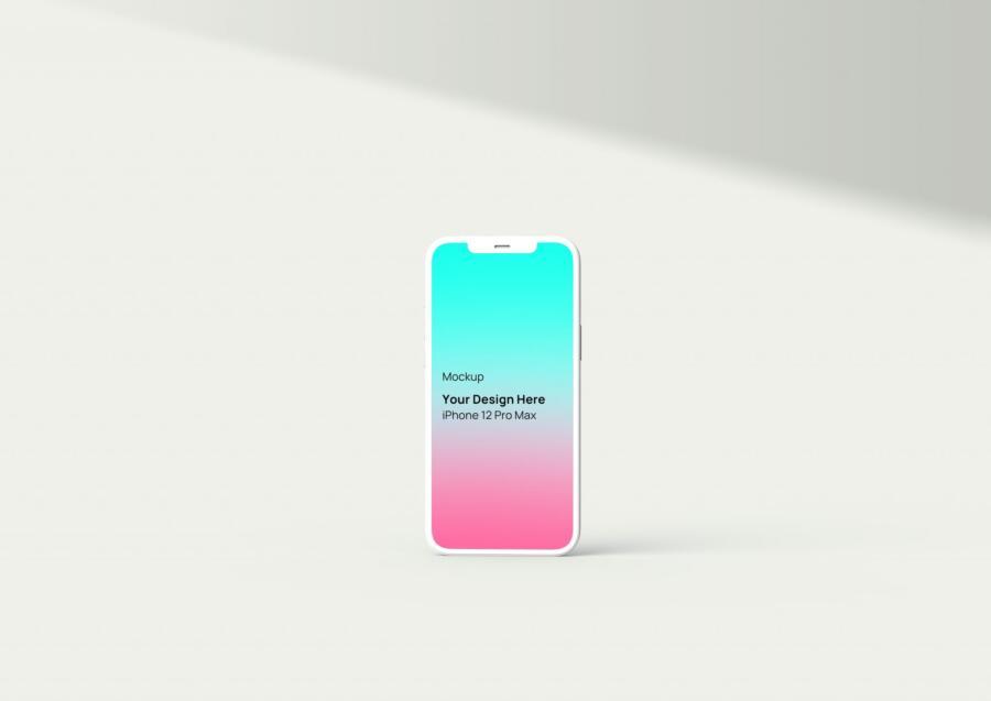 Free iPhone 12 Pro Max Mockup (PSD)