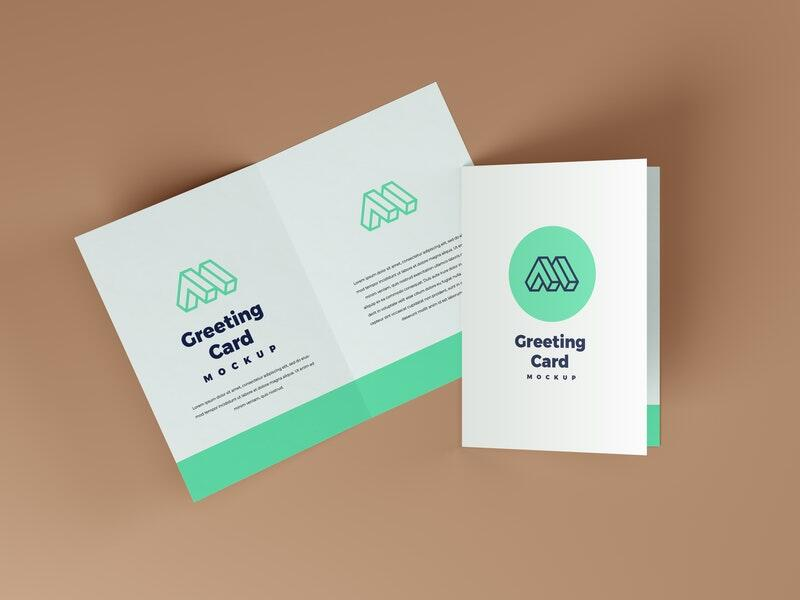 Greeting Card Free Mockup (PSD)