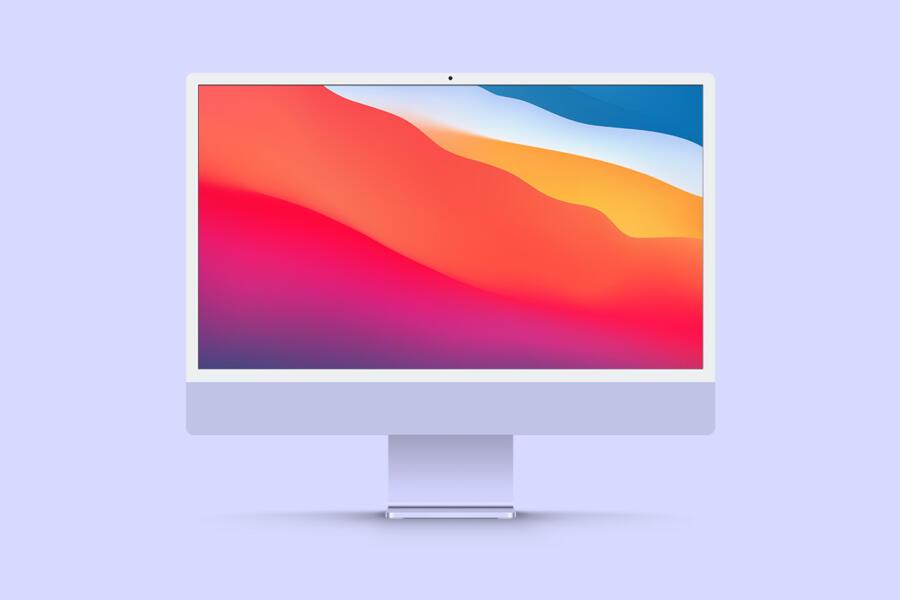 New iMac 24 Free Mockup