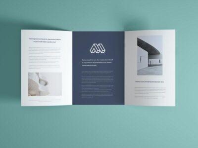 Open Trifold Brochure Free Mockup