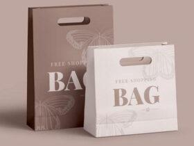Paper Shopping Bag Free Mockup Set