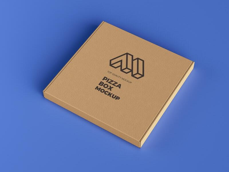 Pizza Box Packaging Free Mockup