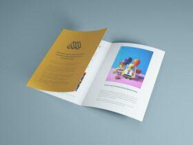 Trifold Brochure Free Mockup (PSD)