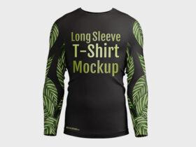 Free Mens Long Sleeve T-Shirt Mockup Set