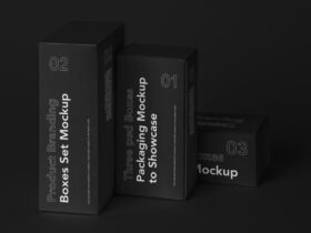 Box Product Branding Free Mockup Set