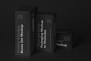 Box Product Branding Free Mockup Set