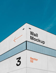 Building Wall Free Mockup (PSD)