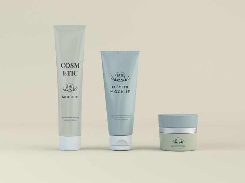 Cosmetic Tubes Free Mockup