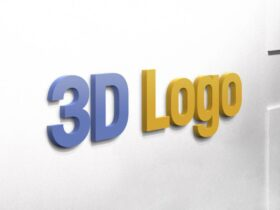 Free 3D Logo on Wall Mockup