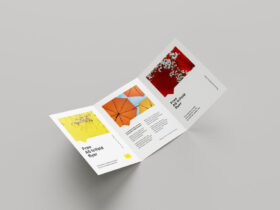 Free A5 Trifold Flyer Mockup