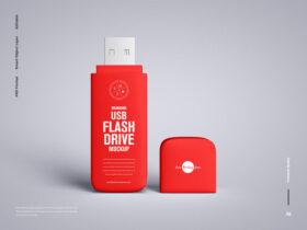 Free Branding USB Flash Drive Mockup