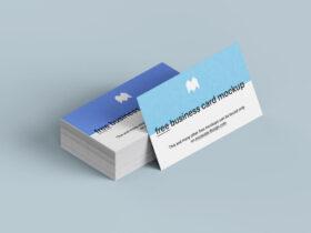Free Business Cards Mockup Set
