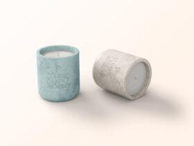 Free Ceramic Candle Jar Mockup