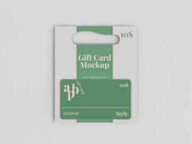 Free Gift Card Mockup (PSD)