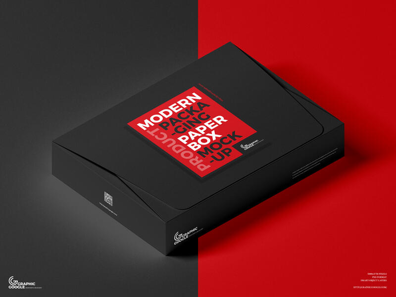Free Product Packaging Paper Box Mockup