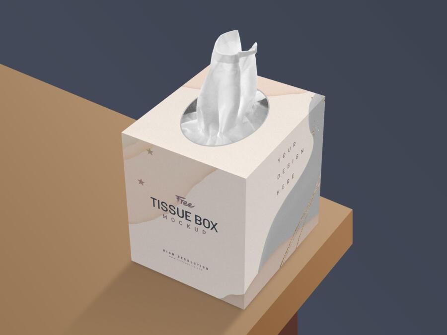 Free Tissue Box Mockup (PSD)