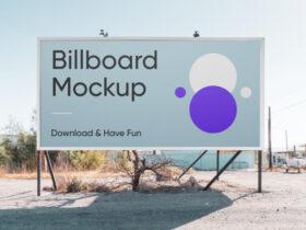 Horizontal Billboard Free Mockup