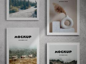 Magazine Cover Free Mockup (PSD)