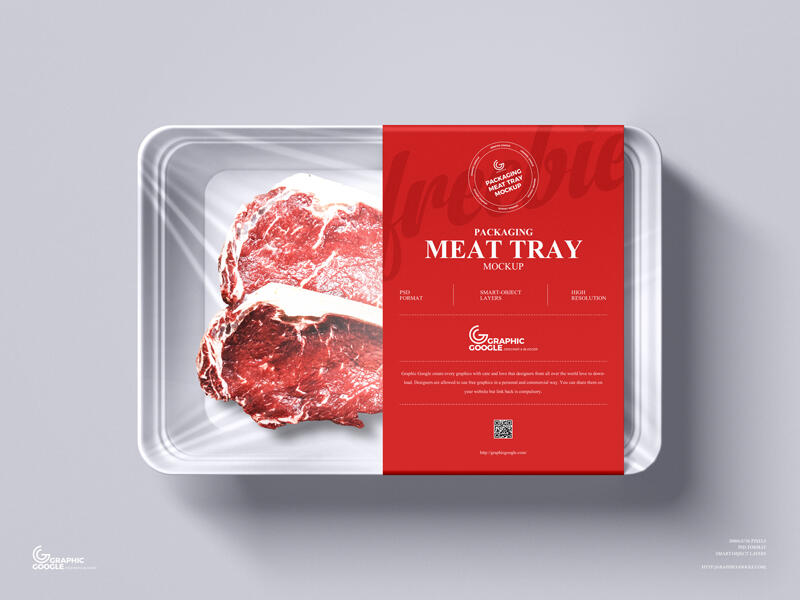 Meat Tray Packaging Free Mockup