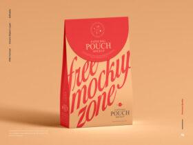 Modern Paper Bag Pouch Free Mockup