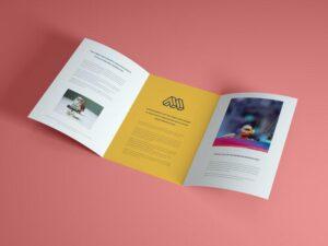 Open Brochure Free Mockup (PSD)