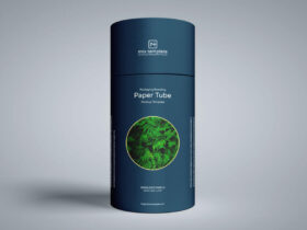 Packaging Branding Paper Tube Free Mockup