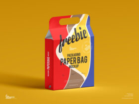 Packaging Paper Bag Free Mockup