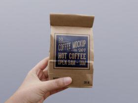 Paper Coffee Bag Free Mockup